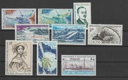 TAAF Année Complète 1981 92-94 Et PA 65-70 ** MNH - Full Years