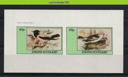 Nfz035 FAUNA VOGELS *IMPERF* PINK STARLING BIRDS VÖGEL AVES OISEAUX SCOTLAND STAFFA 1982 PF/MNH - Etichette Di Fantasia