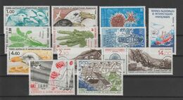TAAF Année Complète 1986 115-121 Et PA 92,94A,95-96 ** MNH - Full Years
