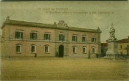 TRAPANI - IL QUARTIERE NUOVO E MONUMENTO A V. EMANUELE II - EDIZIONE GIANQUINIO - SPEDITA 1910 ( 4898) - Trapani
