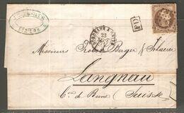 Lettre De 1871 ( France ) - 1863-1870 Napoleone III Con Gli Allori