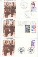 JOLI LOT 9 ENVELOPPES FDC CINQUANTENAIRE APPEL 18 JUIN DONT SAINT PIERRE ET MIQUELON - De Gaulle (General)