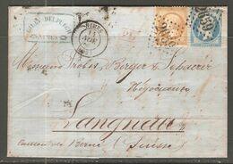 Lettre De 1865 ( France ) - 1862 Napoleon III