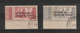 CAMEROUN 1940 YT 245/246 - SPITFIRE - GENERAL DE GAULLE - Oblitération D Authentique - Usati