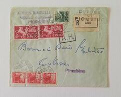Busta Di Lettera Da Piombino Per Cotone (LI) 1948 - Express-post/pneumatisch