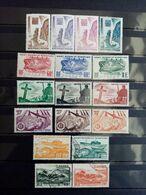 SAINT PIERRE Et MIQUELON. 1947. 17 Timbres ( 12 Neufs, 5 Oblitérés ) . Côte Yvert 33,50 € - St.Pedro Y Miquelon