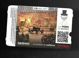Biglietto Parcheggio - Ticket - Ski Data Con Verdi - Eintrittskarten
