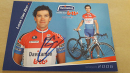 Leon VAN BON Davitamon Lotto Champion Des Pays-Bas 2006 Signée - Radsport