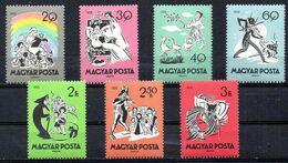 HONGRIE. 7 Timbres De 1959. Fables/Cigale Et La Fourmi/Chaperon Rouge/Belle Au Bois Dormant. - Märchen, Sagen & Legenden
