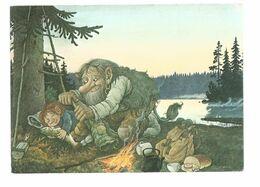 CARTE DE TROLL  Rolf Lidberg (illustrateur)  / CP ECRITE - Other Illustrators