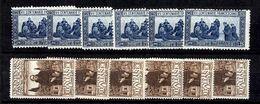 Italie YT N° 190/191 X Six Timbres De Chaque Neufs ** MNH. TB. A Saisir! - 1900-44 Victor Emmanuel III