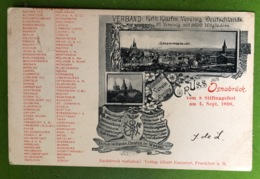 CPA - ALLEMAGNE - GRUSS Aus Osnabrück Vom S Stiftungsfest Am 4. Sept. 1898 - Osnabrueck