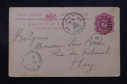 INDE - Entier Postal De Karra Pour Huy En 1911  - L 70199 - Inde (...-1947)