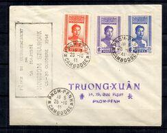 Indochine Maury N° 228/230 Oblitérés Sur Lettre Entière Oblitération 1er Jour. B/TB. A Saisir! - Indochina (1889-1945)