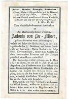 TERWURM / PFARRE HEERLEN / BONN - Antonia Von LOE-MHEER -geboren Frelin Von BÖSELAGER 1827 - Overleden 1847 (duitstalig) - Images Religieuses