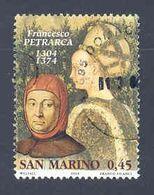 """RSM Fr. USATI 081 - San Marino 2004 - """"F. PETRARCA"""" 1v. Di € 0,45 - San Marino"""