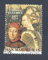 "RSM Fr. USATI 081A - San Marino 2004 - ""F. PETRARCA"" 1v. Di € 0,45 - San Marino"