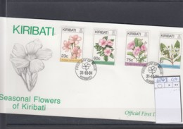 Kiribati Michel Cat.No. FDC 690/693 Flowers - Kiribati (1979-...)