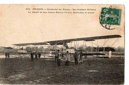 ORLEANS - Aérodrome Des Groues - Nos Aviateurs Militaires - Le Départ De Deux Biplans Farman - Aerodromi