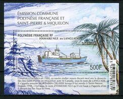 POLYNESIE 2019 Bloc N° 51 ** ( 1233 ) Neuf MNH Superbe Bateaux Navire Hawaiki Nui (Langlade) Transport Maritime Ships - Neufs