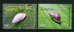 POLYNESIE 2020  N° 1236/1237 ** Neufs MNH Superbes Faune Escargots Mollusques Pardula Nodosa Hyalina - Neufs