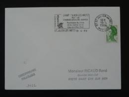 57 Moselle Saint Julien Les Metz Statue De La Liberté Liberty 1988 - Flamme Sur Lettre Postmark On Cover - Denkmäler