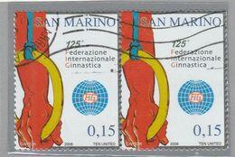 "RSM Fr. USATI 086 - San Marino 2006 - ""FEDERAZ.NE INTER.LE GINNASTICA"" Coppia € 0,15 - San Marino"