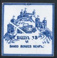 Raro Azulejo Do VI Rallye 3B - Banco Borges Benfica. Rallye Automóvel Do Banco Borges & Irmão, Benfica. - Automotive