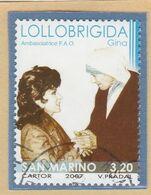 """RSM Fr. USATI 087 - San Marino 2007 - """"GINO LOLLOBRIGIDA"""" 1v. € 3,20 - San Marino"""