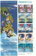 Japon Nº 3627 Al 3631 En Hoja De 2 Series - 1989-... Imperatore Akihito (Periodo Heisei)