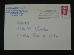 59 Nord Valenciennes Montgolfiades 1991 - Flamme Sur Lettre Postmark On Cover - Montgolfières