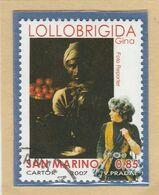 """RSM Fr. USATI 087c - San Marino 2007 - """"GINO LOLLOBRIGIDA"""" 1v. € 0,85 - San Marino"""