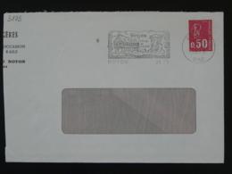 60 Oise Noyon Jean Calvin 1973 - Flamme Sur Lettre Postmark On Cover - Theologians