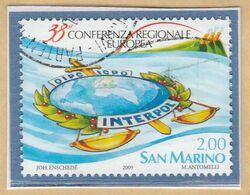 "RSM Fr. USATI 089 - San Marino 2009 - ""INTERPOL"" 1v. Da € 2,00 - San Marino"
