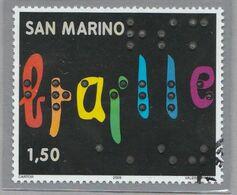 """RSM Fr. USATI 093 - San Marino 2009 - """"BRAILLE"""" 1v. Da € 1,50 - San Marino"""
