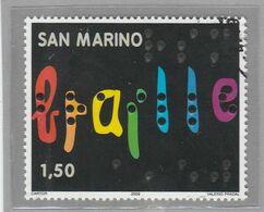 """RSM Fr. USATI 093a - San Marino 2009 - """"BRAILLE"""" 1v. Da € 1,50 - San Marino"""