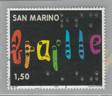 """RSM Fr. USATI 093b - San Marino 2009 - """"BRAILLE"""" 1v. Da € 1,50 - San Marino"""