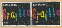 "RSM Fr. USATI 093c - San Marino 2009 - ""BRAILLE"" Coppia Da € 1,50 - San Marino"