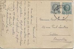 REF1714/ TP 193-194 Albert Houyoux S/CP Gruss Aus Elsenborn Barackenlager C.Elsenborn 20/4/25 > XL BXL - Brieven En Documenten
