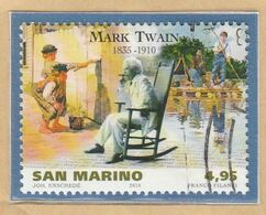 "RSM Fr. USATI 094 - San Marino 2010 - ""MARK TWAIN"" 1v. Da € 4,95 - Gebraucht"
