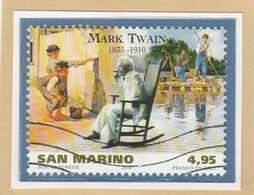 "RSM Fr. USATI 094a - San Marino 2010 - ""MARK TWAIN"" 1v. Da € 4,95 - Gebraucht"