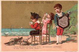 CHROMO - E - ESSENCE DE CAFE DE TRABLIT - VALLET MINOT - PARIS - ENFANT - Tè & Caffè