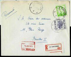 Doc. De LA LOUVIERE - J 1 J - Du 13/01/72 En Rec. ( E ) - Marcophilie