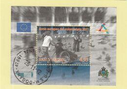 "RSM Fr. USATI 096a - San Marino 2011 - ""VOLONTARIATO"" Foglietto 1v. Da € 4,95 - Gebraucht"