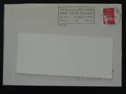 69 Rhone Bron Dom Juan Molière 1999 - Flamme Sur Lettre Postmark On Cover - Maschinenstempel (Werbestempel)