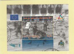 "RSM Fr. USATI 096b - San Marino 2011 - ""VOLONTARIATO"" Foglietto 1v. Da € 4,95 - Gebraucht"