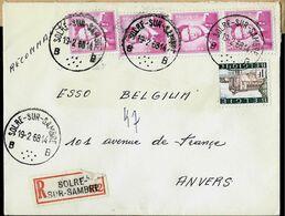 Doc. De SOLRE - SUR - SAMBRE - B B - Du 19/02/68 En Rec. ( E ) - Marcophilie