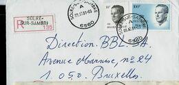 Doc. De SOLRE - SUR - SAMBRE - A - ( 6560 ) Du 09/10/91 En Rec. ( E ) - Marcophilie
