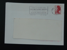 69 Rhone Lyon RP Championnat Handisport Tennis De Table 1990 (ex 3) - Flamme Sur Lettre Postmark On Cover - Handisport