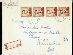 Doc. De STASEGEM  - A A - Du 18/08/65 En Rec. ( E ) - Marcophilie